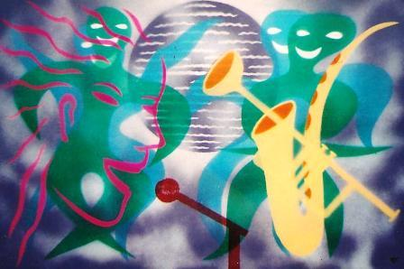 African Jazz (Disco Jive I) 930mm x 625mm Spraypaint on canvas.jpg