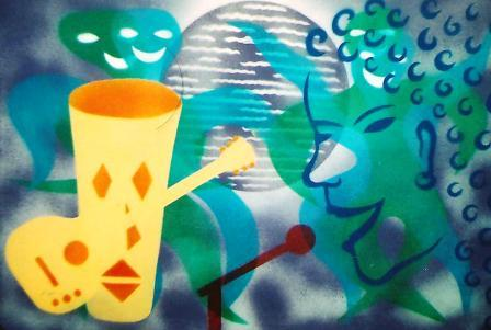African Jazz (Disco Jive II) 930mm x 625mm Spraypaint on canvas.jpg