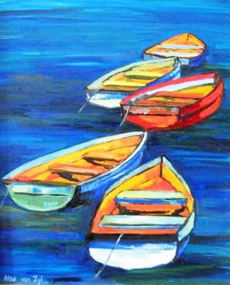 Fishing boats (No. 500) 30cm x 36cm Oil on board R2800.jpg