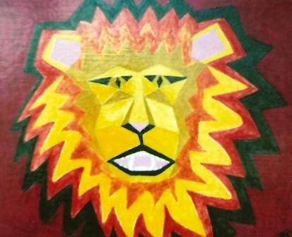 Lion...growling 400mm x 330mm Oil on panel.jpg
