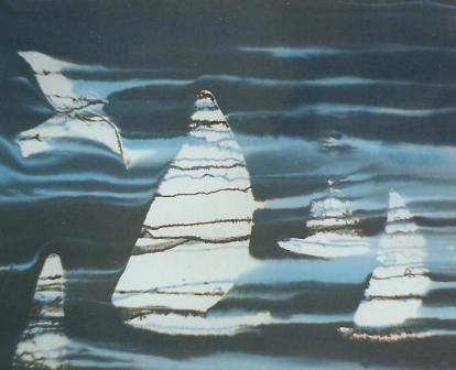 Sailing boats at night 685mm x 560mm Inks on paper.jpg
