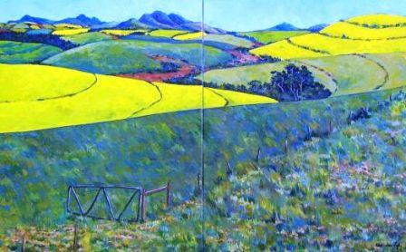 Spring in Overberg (No. 507) Diptych Oil on canvas R4600 80cm x 50cm.jpg