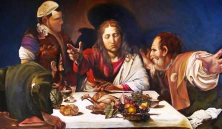 Supper at Emmaus Study after Caravaggio 1 500mm x 700mm Oils R15 000(1).jpg