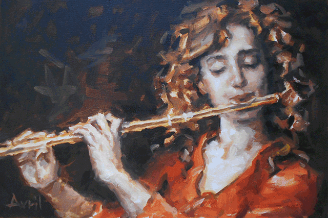 The-Flute,-45-X-30-cm,-oil-on-canvas-board.png